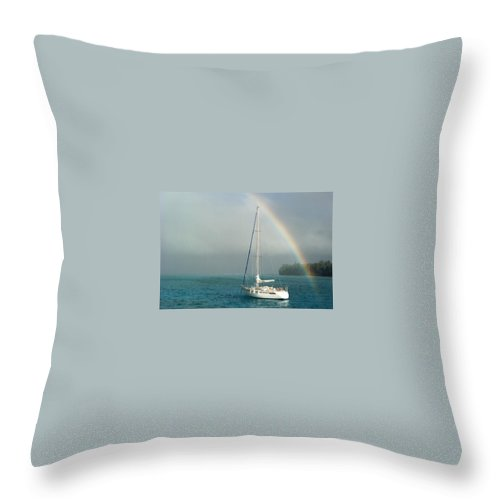 Charity Throw Pillow featuring the photograph Rainbow by Mary-Lee Sanders