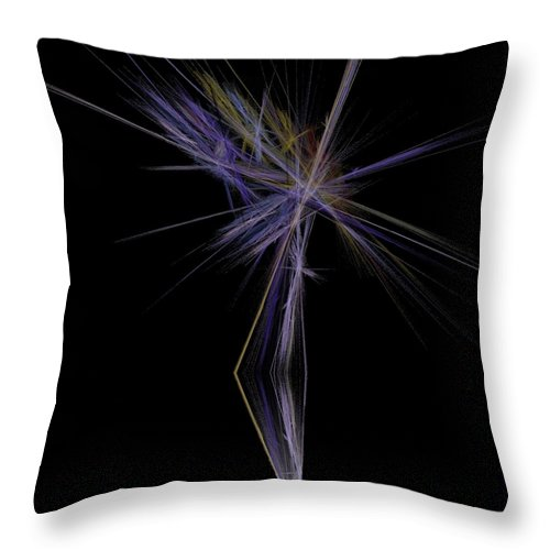 Palm Tree Throw Pillow featuring the digital art Rainbow Palm by Sara Raber