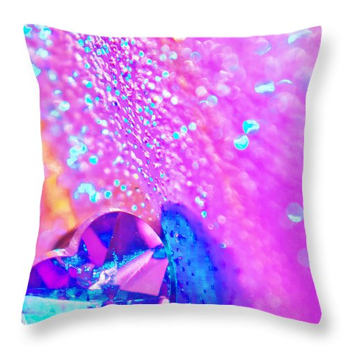 Abstract Throw Pillow featuring the photograph Rainbow Spell by Alex Art and Photo