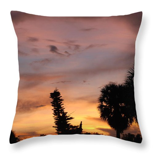 Sunset Throw Pillow featuring the photograph Rainbow Sunset by Rob Hans