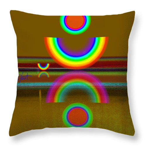 Reflections Throw Pillow featuring the painting Rainbow Warrior by Charles Stuart