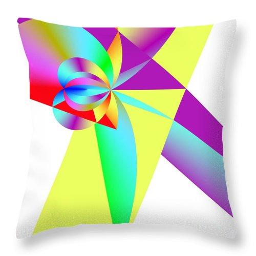 Rainbow Wedding Gift Throw Pillow featuring the digital art Rainbow Wedding Gift by Michael Skinner