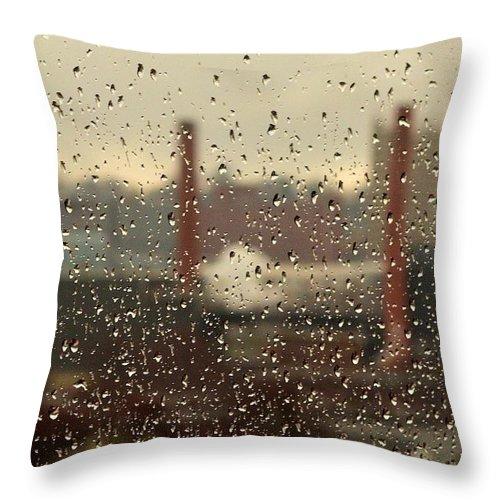 Rain Throw Pillow featuring the photograph Raindrops by Lisa Kane