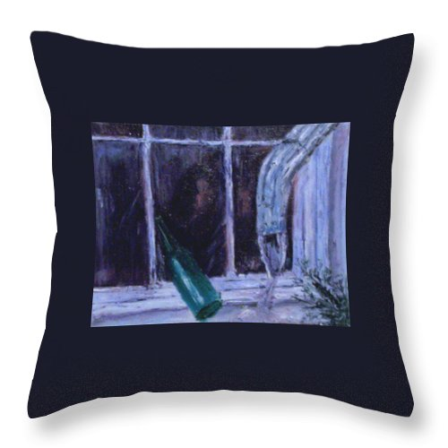 Original Throw Pillow featuring the painting Rainy Day by Stephen King