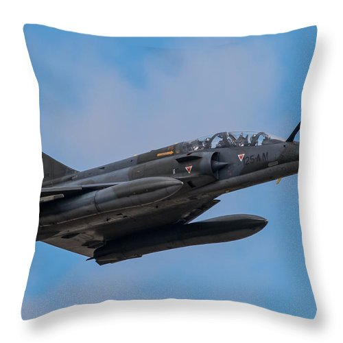Ramex Delta Mirage 2000n Throw Pillow featuring the photograph Ramex Delta Mirage 2000n by Chris Lees