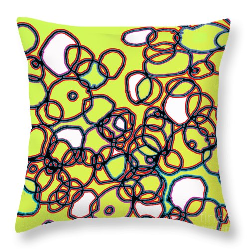 Cell Throw Pillow featuring the digital art Random Cells 4 by Andy Mercer