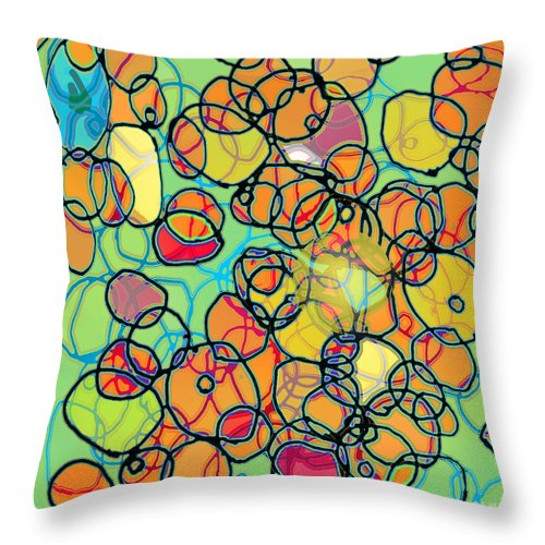 Cell Throw Pillow featuring the digital art Random Cells 5 by Andy Mercer