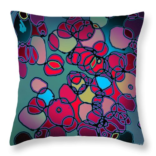 Cell Throw Pillow featuring the digital art Random Cells by Andy Mercer