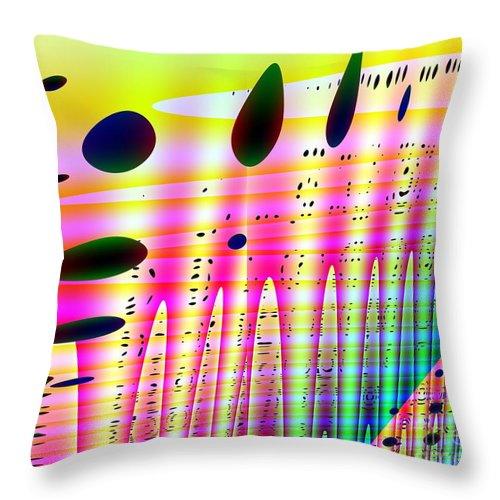 Abstract Throw Pillow featuring the digital art Random Chance by Robert Burns