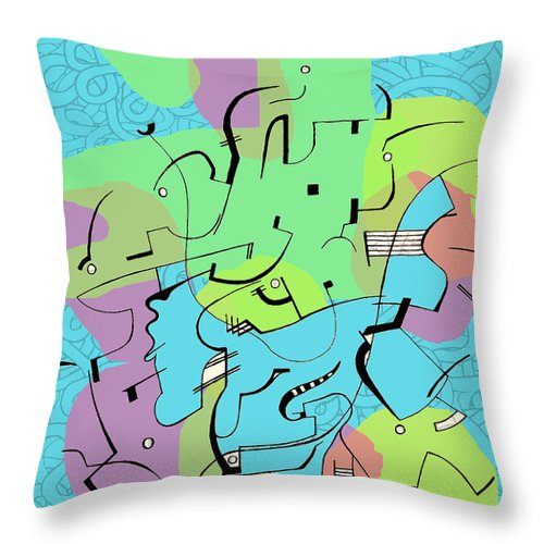 Lines Throw Pillow featuring the digital art Random Lines by Andy Mercer