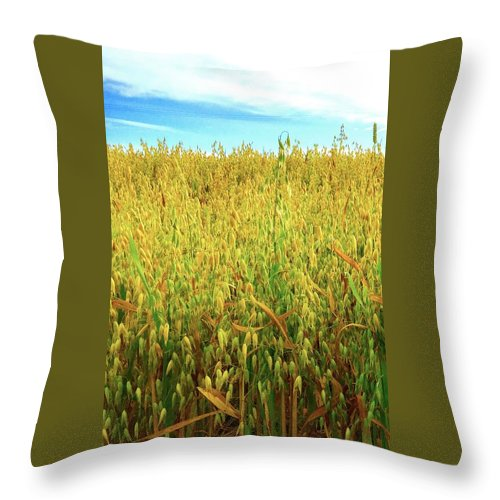 Rapeseed Throw Pillow featuring the photograph Rapeseed by Caroline Reyes-Loughrey