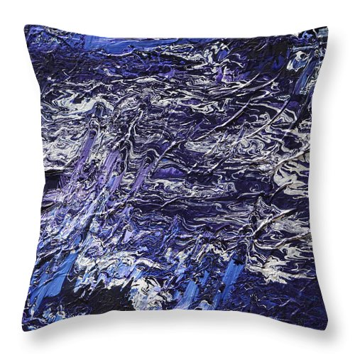 Fusionart Throw Pillow featuring the painting Rapid by Ralph White