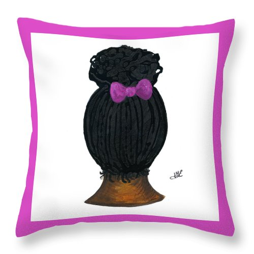 Naturally Me Kidz Throw Pillow featuring the painting Raven by Sonja Griffin Evans