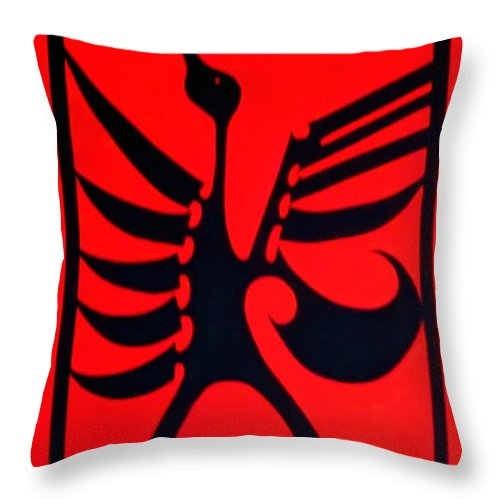 Bird Throw Pillow featuring the painting Raven by Stephanie Moore