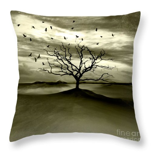 Landscape Throw Pillow featuring the photograph Raven Valley by Jacky Gerritsen