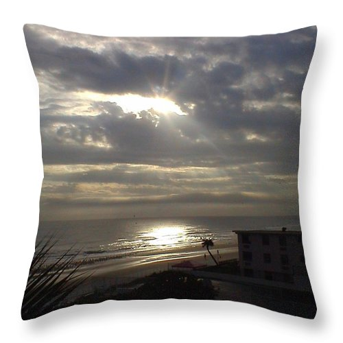 Landscape Throw Pillow featuring the photograph Ray Of Light by Charleen Treasures
