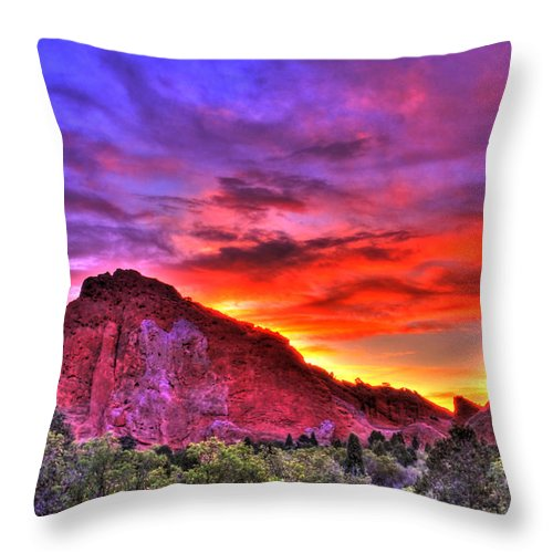Colorado Throw Pillow featuring the photograph Rays Of The Gods by Scott Mahon