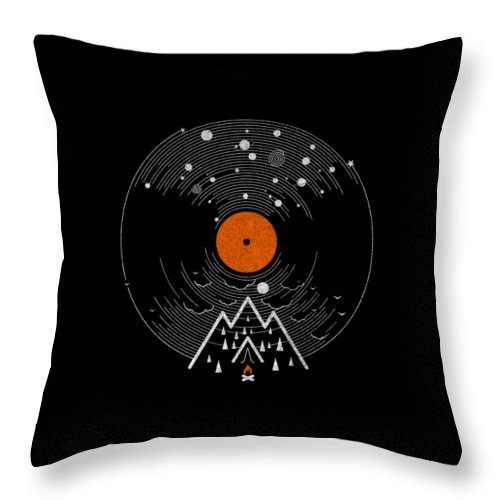 Record Throw Pillow featuring the digital art Re/cordless by Mustafa Akgul
