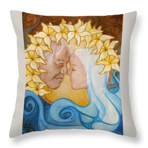 Kimberly Kirk Throw Pillow featuring the painting Reach Into My Heart by Kimberly Kirk
