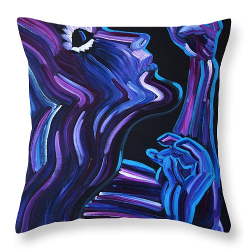 Figure Throw Pillow featuring the painting Reach by JoAnn DePolo