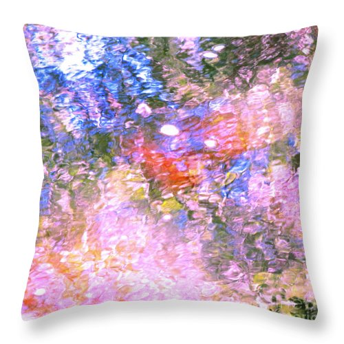 Abstract Throw Pillow featuring the photograph Reaching Angels  by Sybil Staples