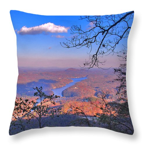 Landscape Throw Pillow featuring the photograph Reaching For A Cloud by Steve Karol