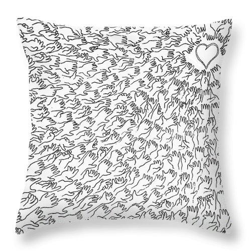 Love Throw Pillow featuring the photograph Reaching For Love by C H Apperson