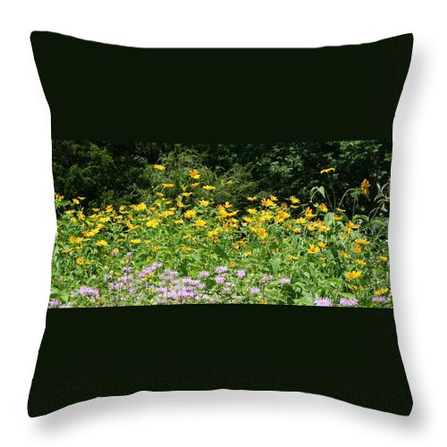 Flora Throw Pillow featuring the photograph Reaching by Rebecca Smith