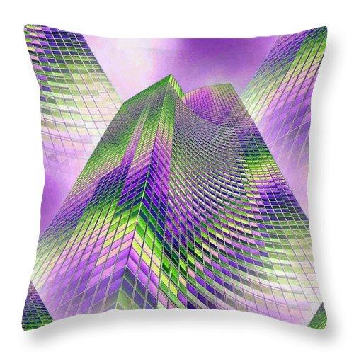 Seattle Throw Pillow featuring the photograph Reaching Skyward by Tim Allen