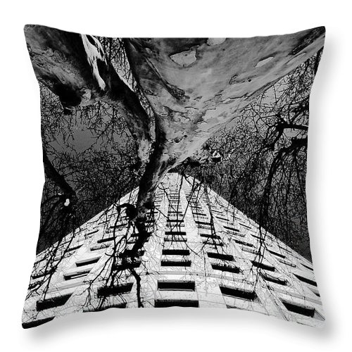Art Throw Pillow featuring the painting Reaching Up by David Lee Thompson