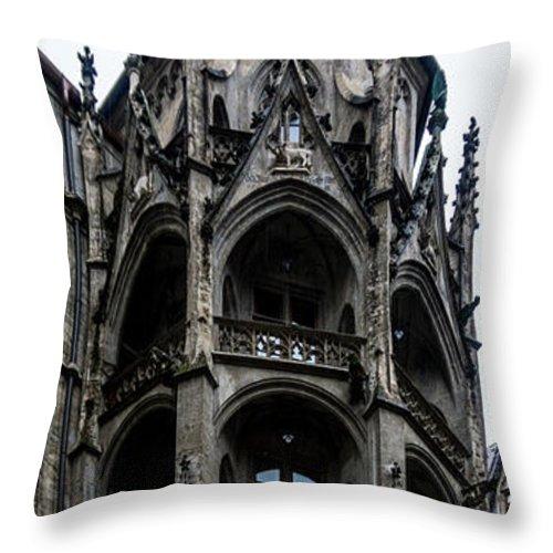 Munich Germany Munchen Landscape Throw Pillow featuring the photograph Reaching Up by Terry Baldridge