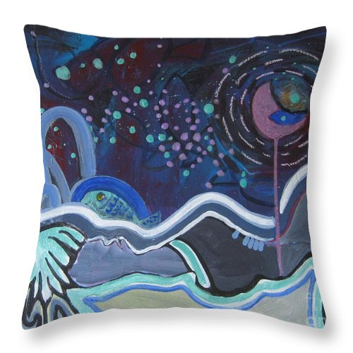 Abstract Paintings Throw Pillow featuring the painting Read My Mind5 by Seon-Jeong Kim
