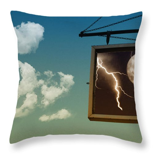 Sky Throw Pillow featuring the photograph Read The Signs by Kristie Bonnewell
