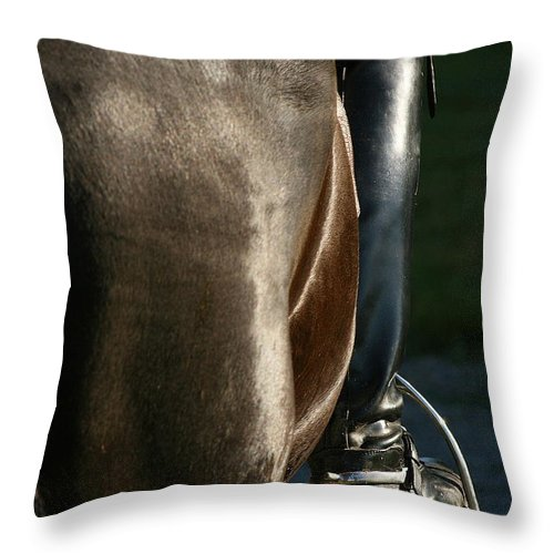 Spurs Throw Pillow featuring the photograph Ready by Angela Rath