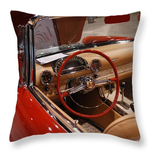Cars Throw Pillow featuring the photograph Ready For A Ride by Susanne Van Hulst
