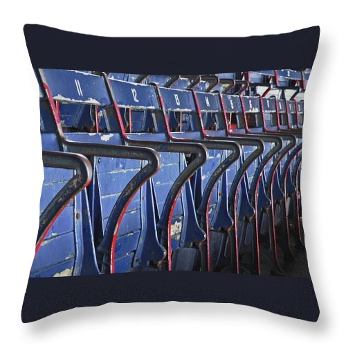 Boston Throw Pillow featuring the photograph Ready For Red Sox by Donna Shahan