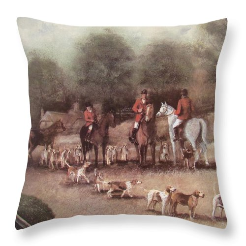 Charles Roy Smith Throw Pillow featuring the painting Ready For The Hunt by Charles Roy Smith