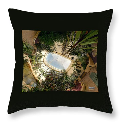 Real World Throw Pillow featuring the digital art Real World by Maye Loeser
