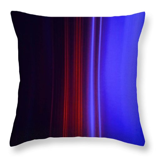 Abstract Blue Throw Pillow featuring the painting Realm Of Color by Eric Schiabor
