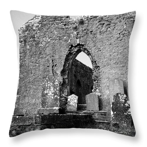 Ireland Throw Pillow featuring the photograph Rear Entrance Fuerty Church Roscommon Ireland by Teresa Mucha