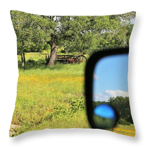 Throw Pillow featuring the photograph Rear View by Jeff Downs