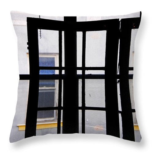 Skip Hunt Throw Pillow featuring the photograph Rear Window 1 by Skip Hunt