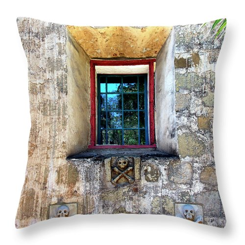 Santa Barbara Throw Pillow featuring the photograph Rear Window by William Dey