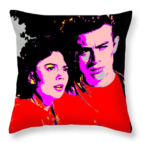 Square Throw Pillow featuring the digital art Rebel by Eikoni Images