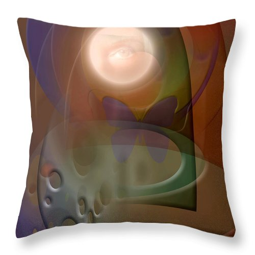 Abstract Throw Pillow featuring the digital art Rebirth by Stephen Lucas