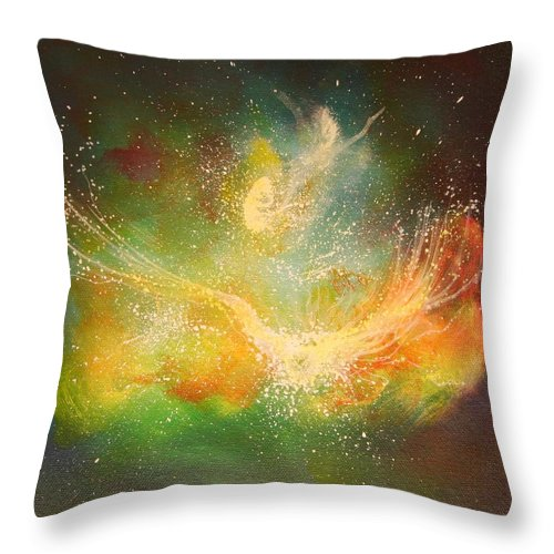 Energy Throw Pillow featuring the painting Reborn by Naomi Walker