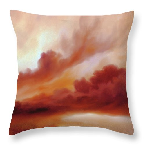 Skyscape Throw Pillow featuring the painting Receding Storm Sketch IIi by James Christopher Hill