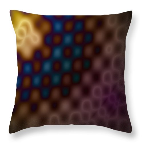 Digital Art Throw Pillow featuring the digital art Recluses Of The Yellow Beam. by Chad Davis