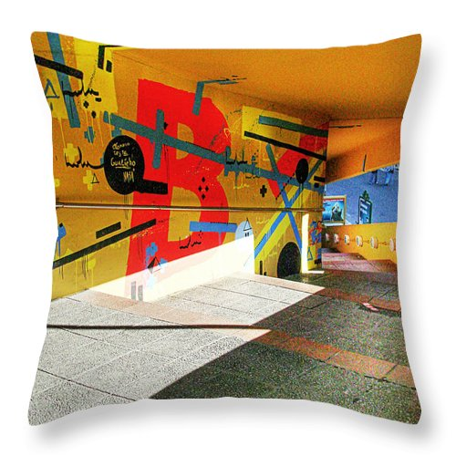 Tunnel Throw Pillow featuring the photograph Recoleta Tunnel by Francisco Colon