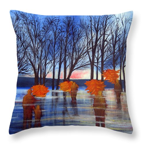 Landscape Throw Pillow featuring the painting Recurring Dream by Leonardo Ruggieri